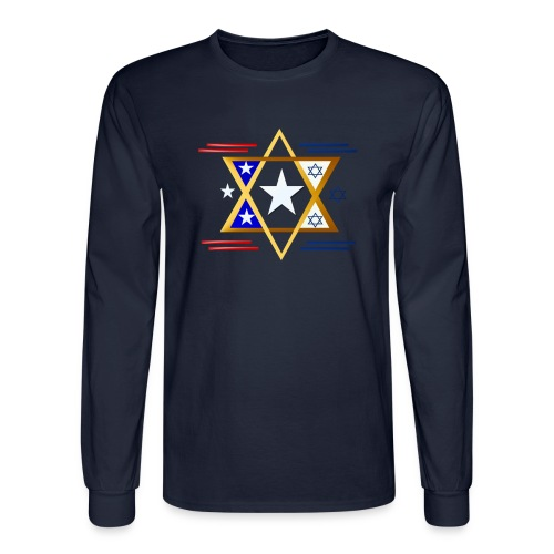 America-Israel - Men's Long Sleeve T-Shirt