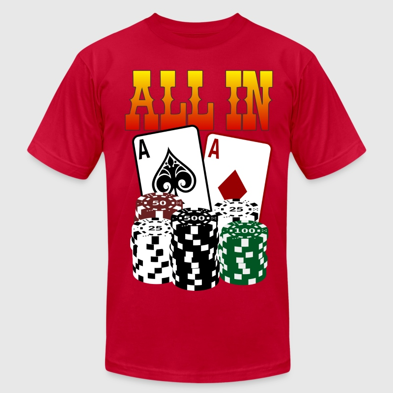 c6eb5738 ... Poker T Shirts: Poker ALL IN T-Shirt