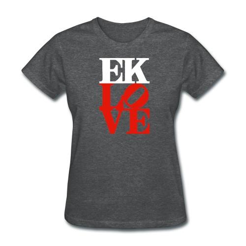 EK LOVE (white with red) Women's Tee - Women's T-Shirt