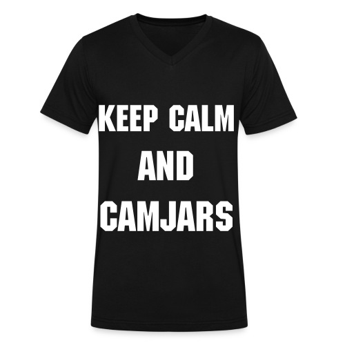 Keep Calm and Camjars Guys - Men's V-Neck T-Shirt by Canvas