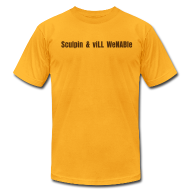 T-Shirts ~ Men's T-Shirt by American Apparel ~ Sculpin & viLL WeNABle