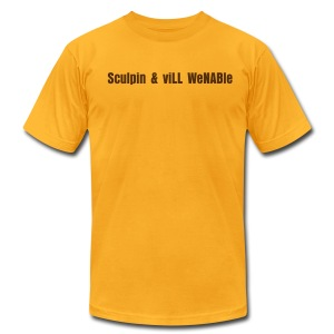 Sculpin & viLL WeNABle - Men's T-Shirt by American Apparel