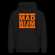 Hoodies ~ Men's Hoodie ~ Mad Bum Black Hooded Sweatshirt