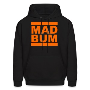Mad Bum Black Hooded Sweatshirt - Men's Hoodie