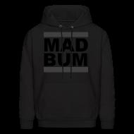 Hoodies ~ Men's Hoodie ~ Mad Bum Black Hooded Sweatshirt (Blackout)