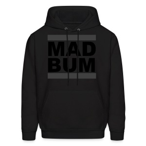 Mad Bum Black Hooded Sweatshirt (Blackout) - Men's Hoodie