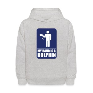 MY HAND IS A DOLPHIN! - Kids' Hoodie