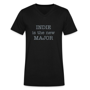 Men's INDIE V-NECK T-Shirt - Men's V-Neck T-Shirt by Canvas