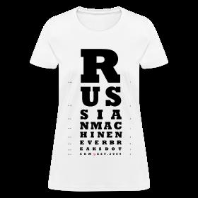 RMNB Eye Exam Ladies T-Shirt ~ 625