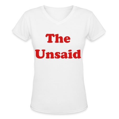 The Unsaid  (Created By E.L. French) - Women's V-Neck T-Shirt
