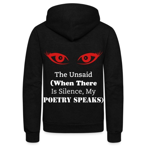 The Unsaid (Hoodie)  (Created By E.L. French) - Unisex Fleece Zip Hoodie