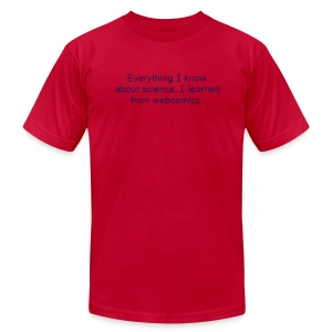 Science Webcomics - Men's T-Shirt by American Apparel
