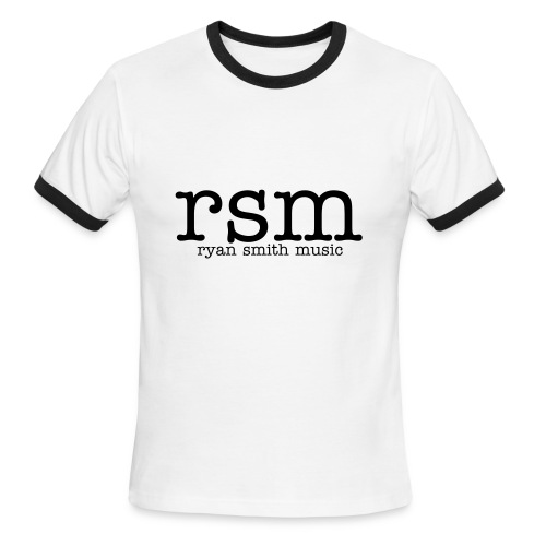 Men's Ringer T-Shirt 'rsm' Enlarged. - Men's Ringer T-Shirt