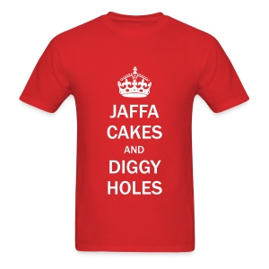 Mens Tee: Jaffa Cakes/Diggy Holes - Men's T-Shirt