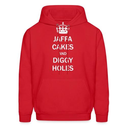 Mens Hoodie: Jaffa Cakes/Diggy Holes - Men's Hoodie