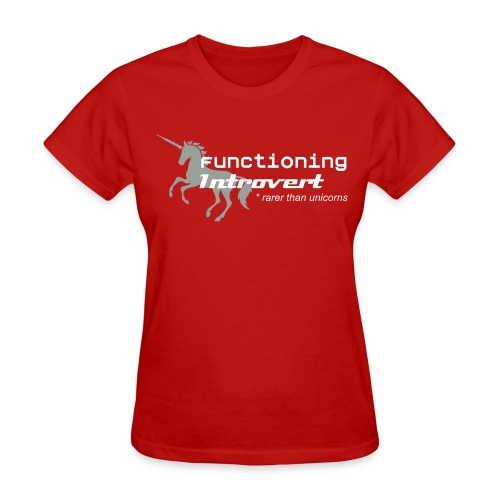 Functioning Introvert with unicorn -woman's tshirt - Women's T-Shirt
