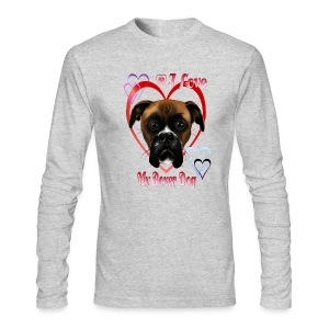 I Love  My Boxer Dog - Men's Long Sleeve T-Shirt by Next Level
