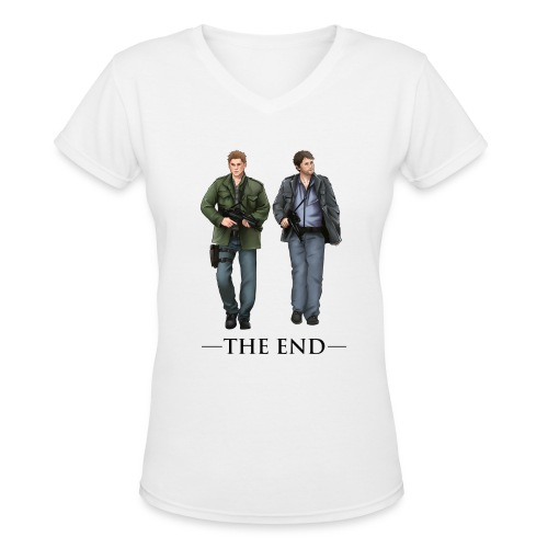 The End (DESIGN BY BRITTANY) - Women's V-Neck T-Shirt