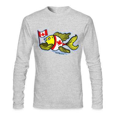 Canadian Flag Fish , Fish holding Canada Flag