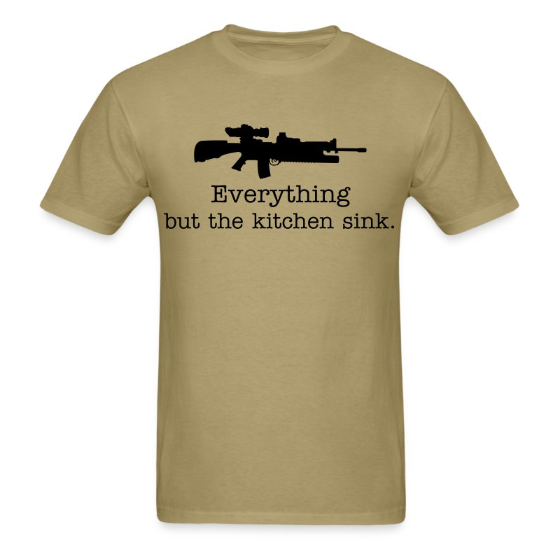Everything but the kitchen sink AR15 - Men's T-Shirt