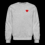 Long Sleeve Shirts ~ Crewneck Sweatshirt ~ Heart Men's SweatShirt