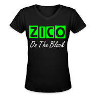 T-Shirts ~ Women's V-Neck T-Shirt ~ Zico On The Block- V Neck