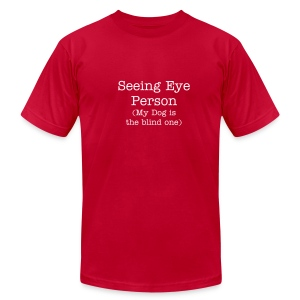 Men's Seeing Eye Person T - Men's Fine Jersey T-Shirt