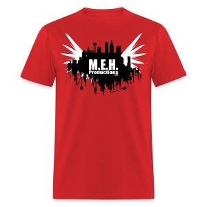 M.E.H. Productions City T (Red) - Men's T-Shirt