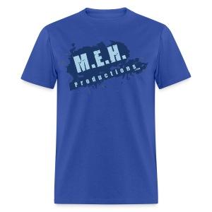 M.E.H. Productions Splatter T (Blue) - Men's T-Shirt