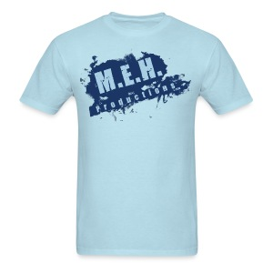 M.E.H. Productions Splatter T (Light Blue) - Men's T-Shirt