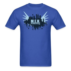 M.E.H. Productions City T (Blue) - Men's T-Shirt