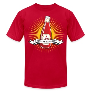 Try The Ketchup (Starburst) - Men's T-Shirt by American Apparel