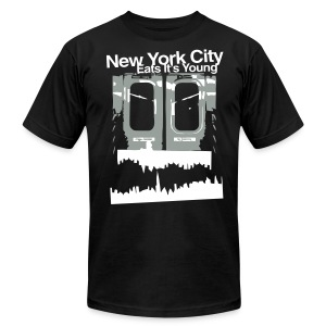 NYC EATS ITS YOUNG - Men's T-Shirt by American Apparel