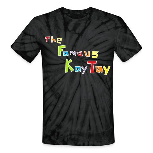 (Unisex) thefamouskaytay Logo - Unisex Tie Dye T-Shirt