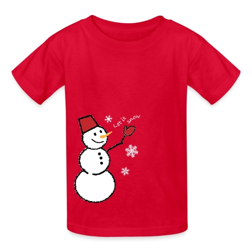 let it snow (white) - Kids' T-Shirt