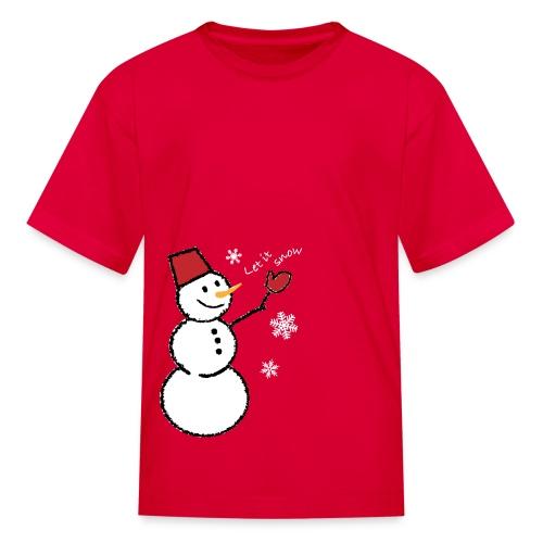 let it snow (white) - Kids' T-Shirt