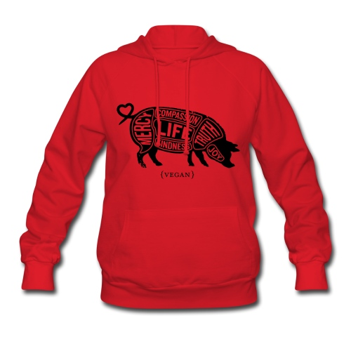 Words to Live By (Pig) - Women's Sweatshirt w/Black - Women's Hoodie