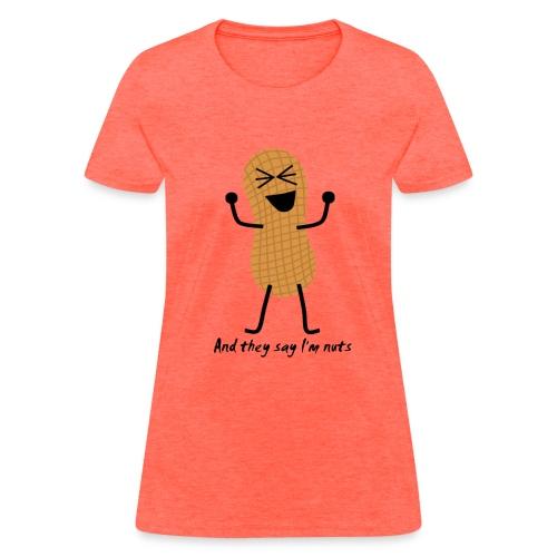 (Women's) Nuts Peanut Person - Women's T-Shirt