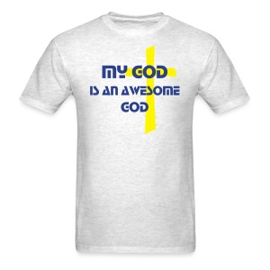 AWESOME GOD  neon cross - Men's T-Shirt