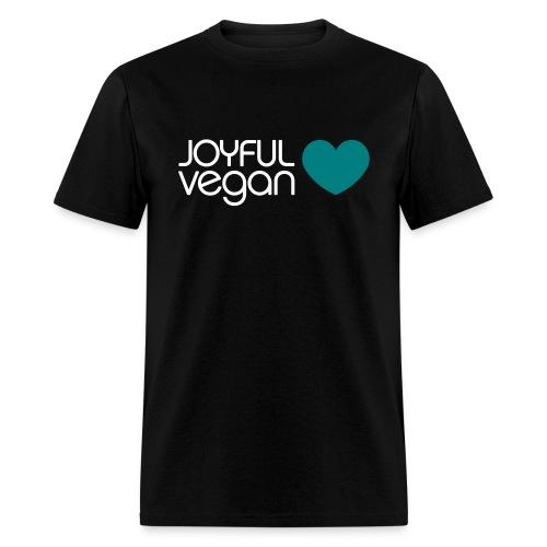 Men's Joyful Vegan Heart - No Back Quote - Men's T-Shirt