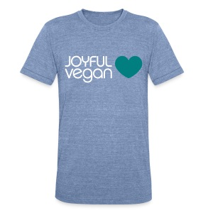 Men's Joyful Vegan Heart Vintage - No Back Quote - Unisex Tri-Blend T-Shirt by American Apparel