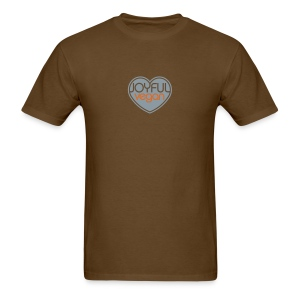 Men's Joyful Vegan Brown/Orange - Once We Know Quote - Men's T-Shirt