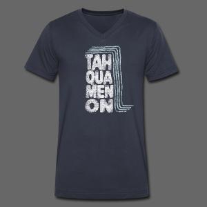 Tahquamenon Falls - Men's V-Neck T-Shirt by Canvas
