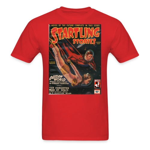 Startling Stories with Captain Future Winter 1945 - Men's T-Shirt