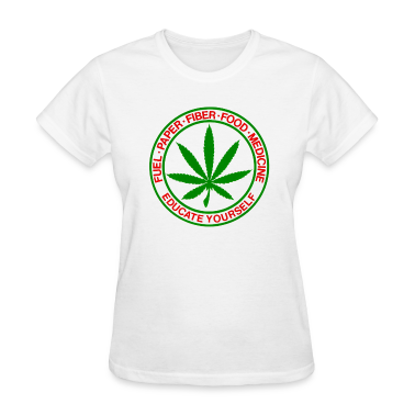 Fuel, Paper, Fiber, Food, Medicine - CANNABIS Women's T-Shirts