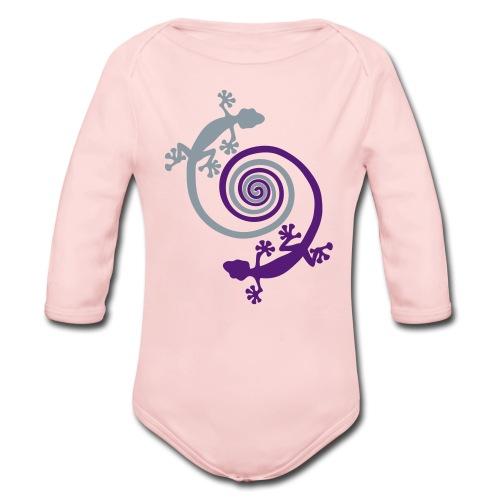 Baby hearts geckos - Organic Long Sleeve Baby Bodysuit