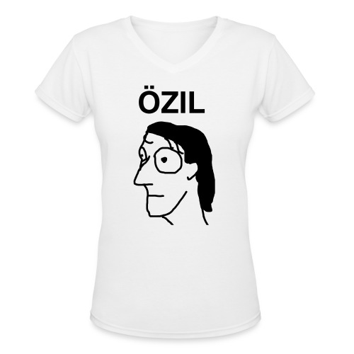 Ozil women's white V-neck t-shirt - Women's V-Neck T-Shirt