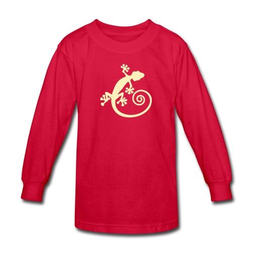 Spiral tail gecko T-shirt - Kids' Long Sleeve T-Shirt