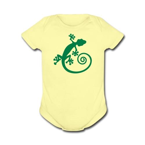 Bably short sleeve gecko piece - Organic Short Sleeve Baby Bodysuit