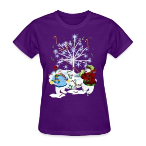 Two Snowmen - Women's T-Shirt